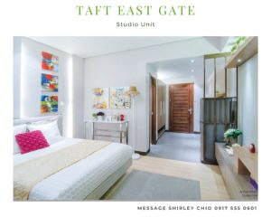 Taft East Gate Studio condominium for sale Cebu