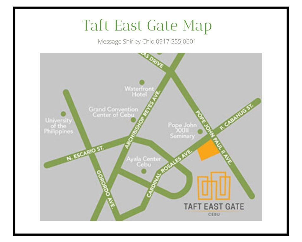 Taft East Gate Map Condominium for Sale in Cebu