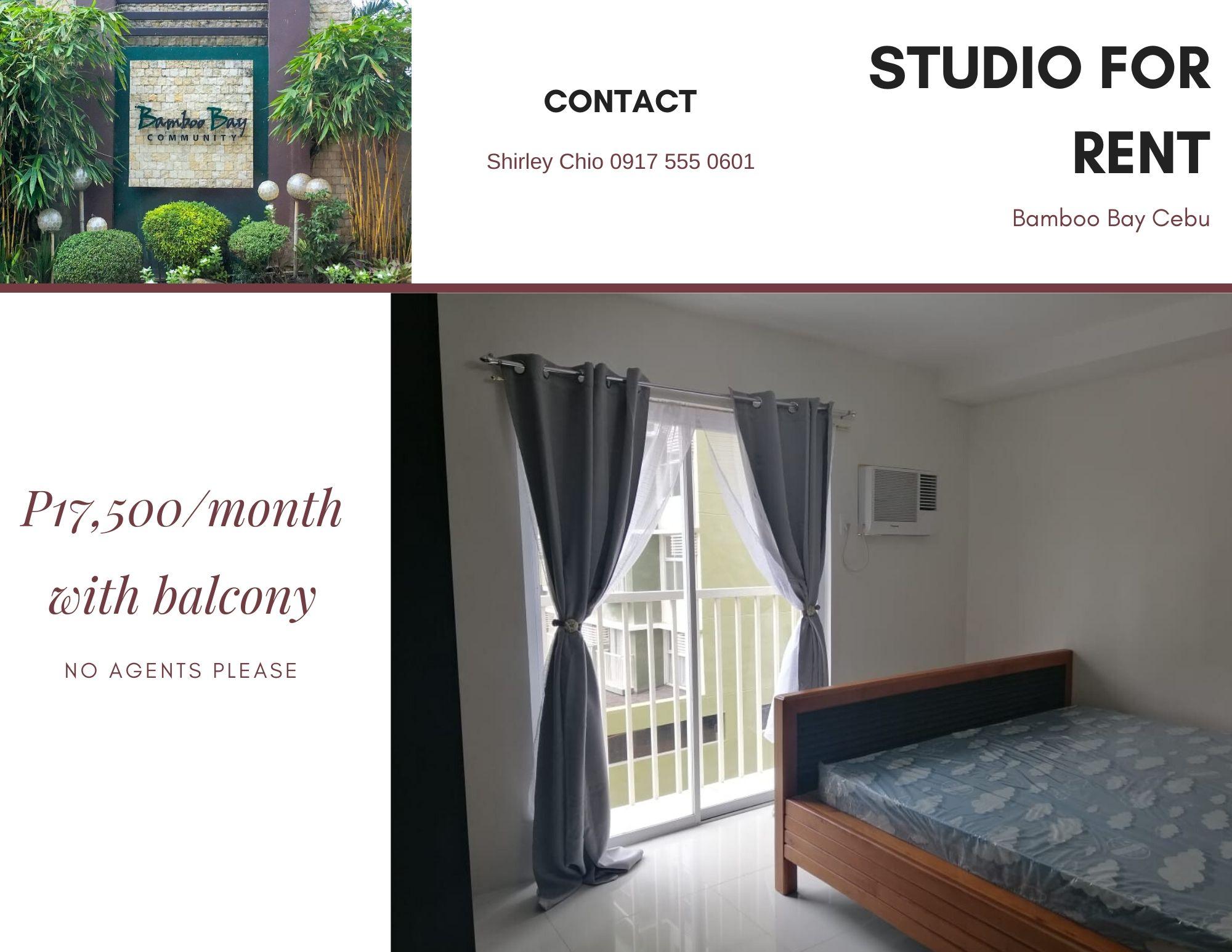 Studio with balcony condominium for rent in Mandaue Cebu