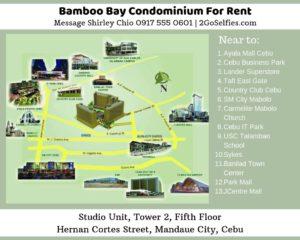 Studio with Balcony Condominium for Rent Bamboo Bay Map