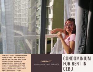 Bamboo Bay Studio with Balcony Condominium for Rent in Cebu