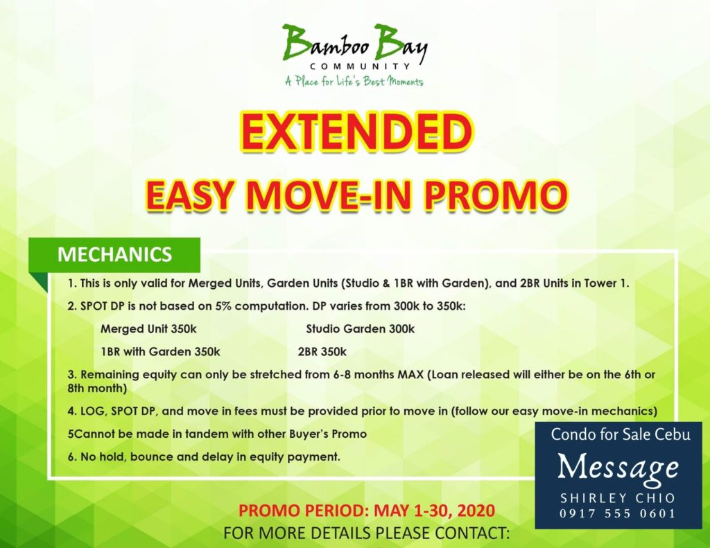 Condominium for sale in Cebu Bamboo Bay Promo May 2020