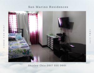 Condominium for rent San Marino Residences Cebu Philippines
